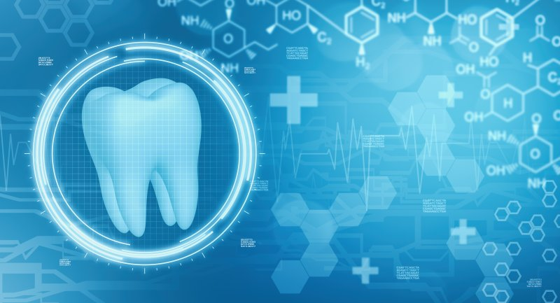 Digital tooth representing future of dentistry
